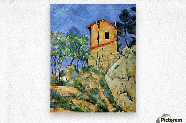 House with Walls by Cezanne  Metal print