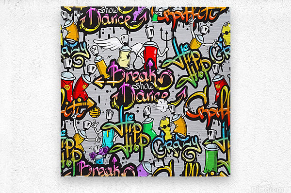 hip hop background  Metal print