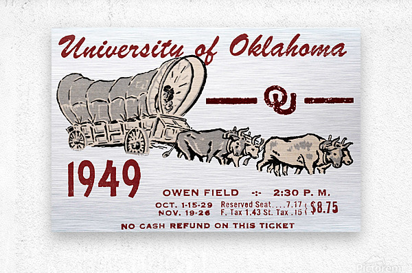 University of Oklahoma Gift Ideas for Sooner Fans  Metal print