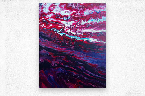 Red and purple sunset  Metal print