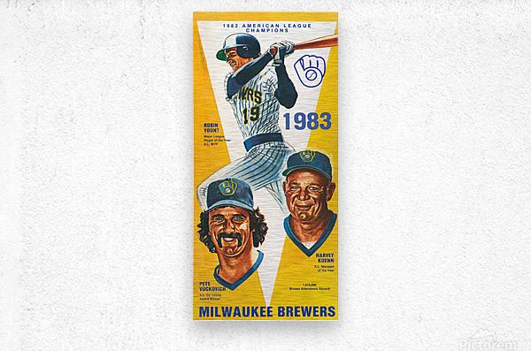 milwaukee brewers 1983  Metal print