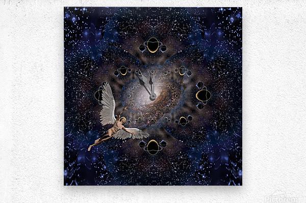 Angel in Space  Metal print