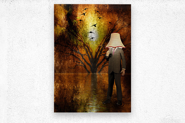 Lamp Man  Metal print