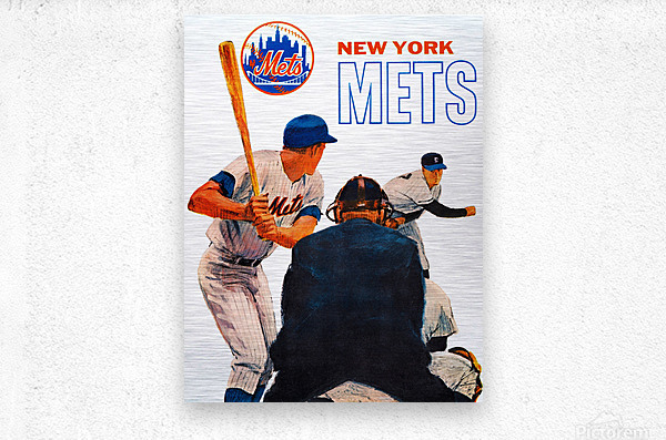 Vintage New York Mets Art  Metal print