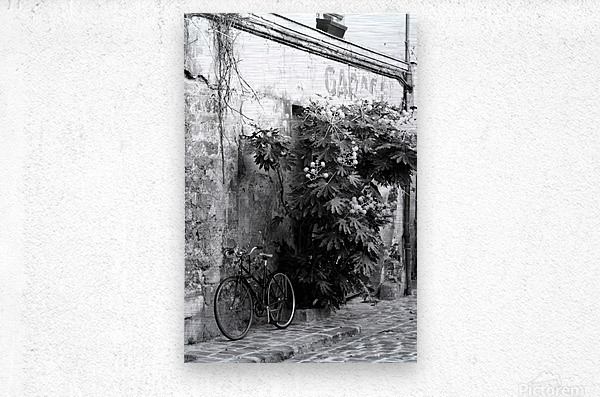Bike in Passage  Metal print
