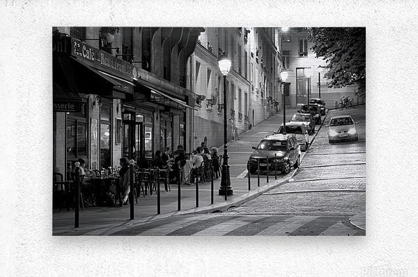 Brasserie les Buttes Chaumont  Metal print