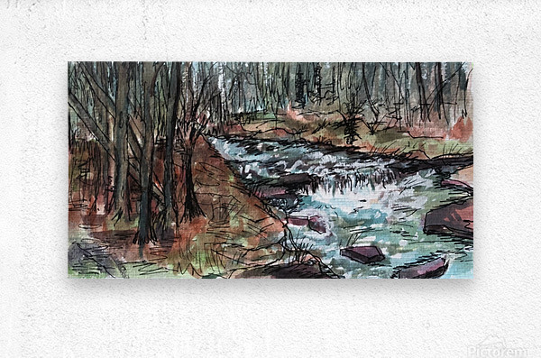 Gatlinburg Creek  Metal print
