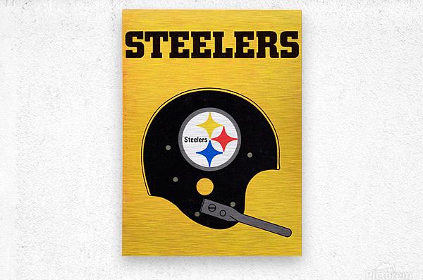 1968 Pittsburgh Steelers Helmet Art  Metal print