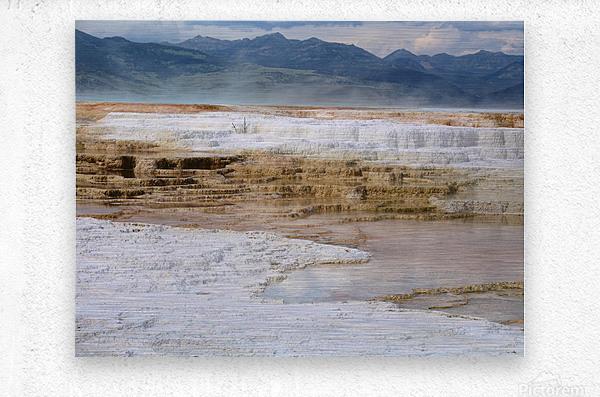 Mammoth Hot Springs part 2 Yellowstone National Park  Metal print