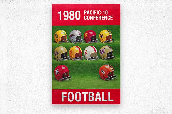 1980 Pac 10 Football Poster  Metal print