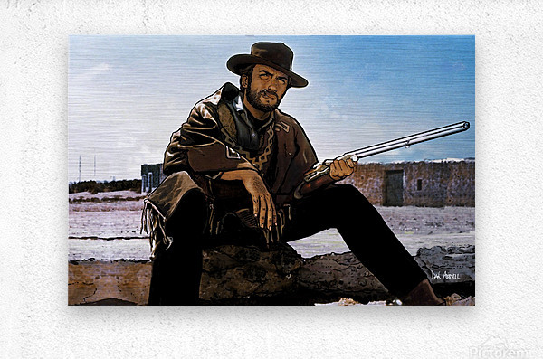 Clint Eastwood as The Man With No Name  Metal print