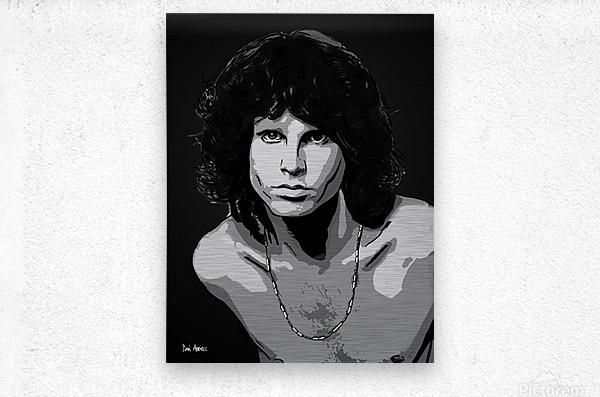 Jim Morrison of The Doors   Metal print