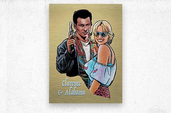 Tarantino: True Romance - Clarence and Alabama  Metal print