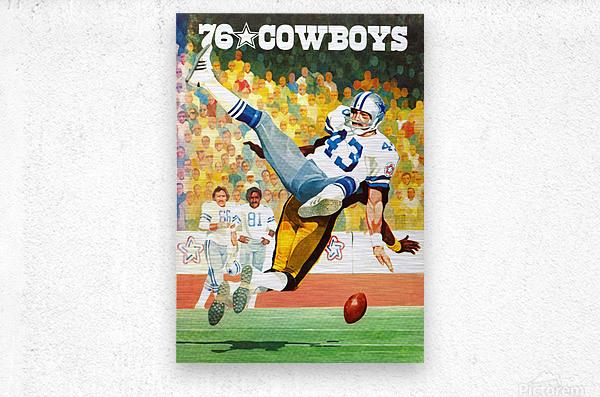 1976 Dallas Cowboys Art  Metal print