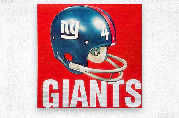 Vintage New York Giants Football Helmet Art  Metal print