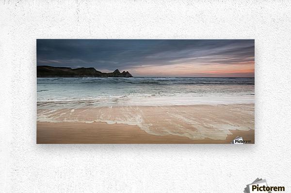 Three Cliffs Bay Swansea  Metal print