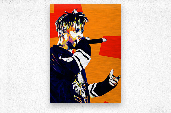 Juice Wrld Best American Rapper Art Style 15  Metal print