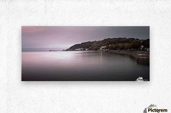 Mumbles coastline Swansea  Metal print