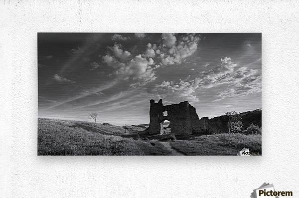 Pennard castle Gower  Metal print