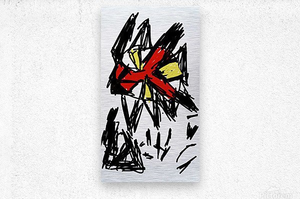 indifference leads to destruction  Metal print