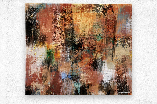 Brownian Movement  Metal print