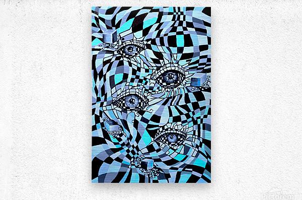 All Seeing Eye Pop Culture  Metal print