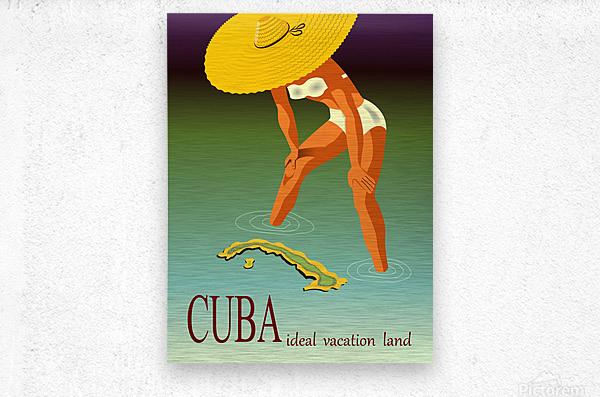 Big Girl over Cuba  Metal print