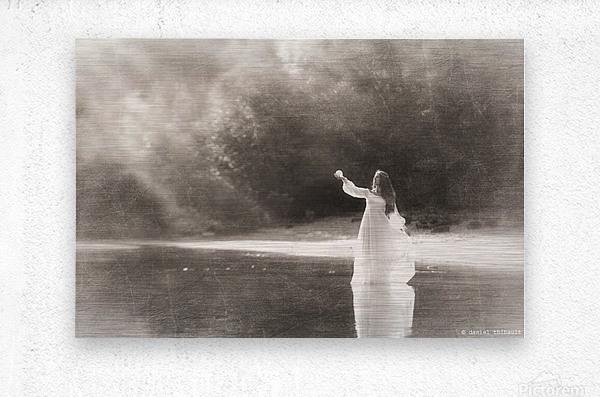 Lady by the lake  Metal print