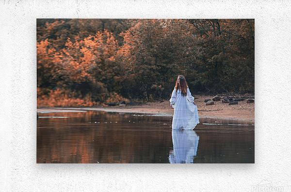 La dame du lac 2  Metal print