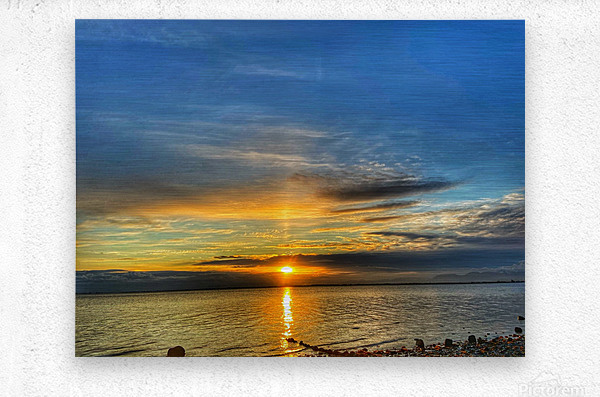 Ocean Sunsets  Metal print