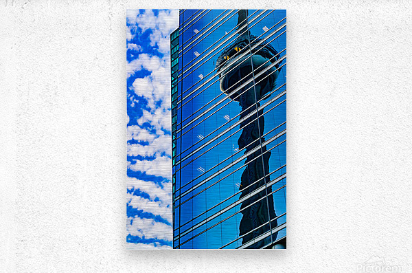 Shimmer In The 6ix  Metal print