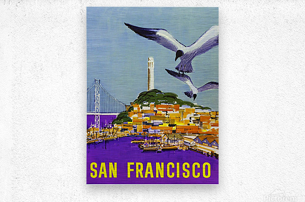 San Francisco Bay  Metal print