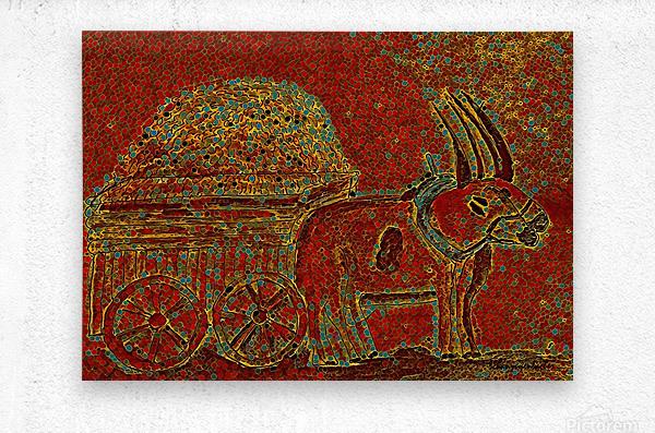 Oxen  Metal print