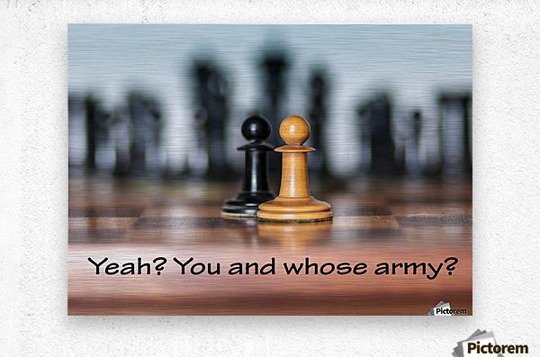 Chess battle  Metal print