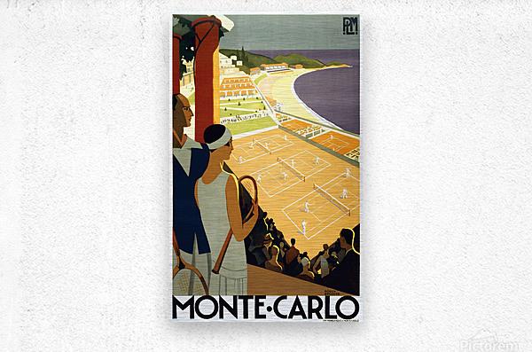 Tennis in Monte Carlo  Metal print