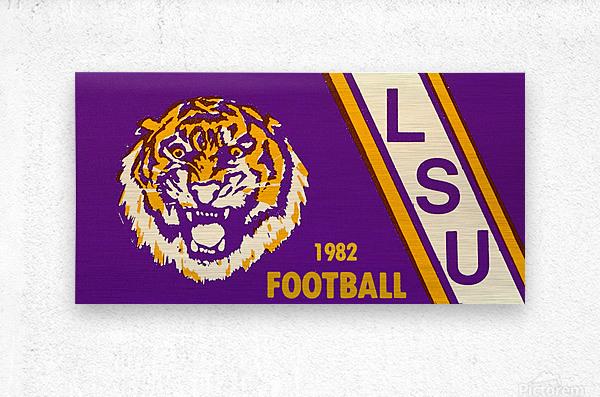 1982 LSU Football  Metal print