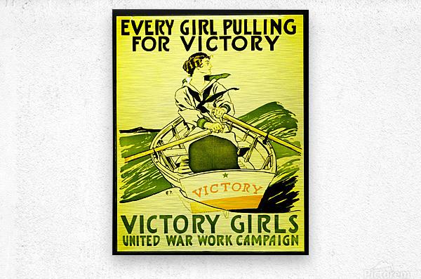 Victory Girls  Metal print