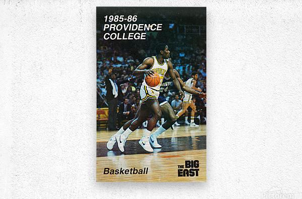 1986 providence basketball poster  Metal print