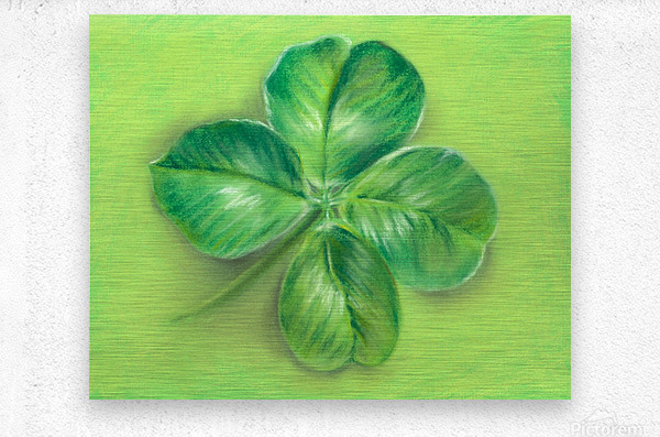 Lucky Four Leaf Clover  Metal print
