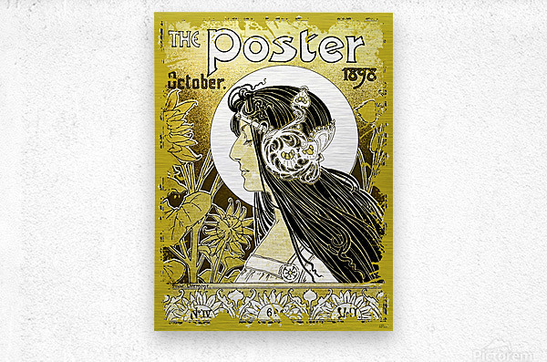 The Poster of 1898  Metal print