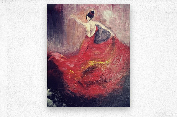 Dancer in Red   Metal print
