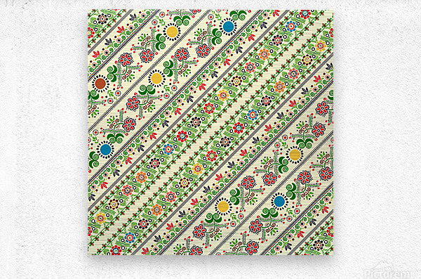 Hungarian seamless pattern   Metal print