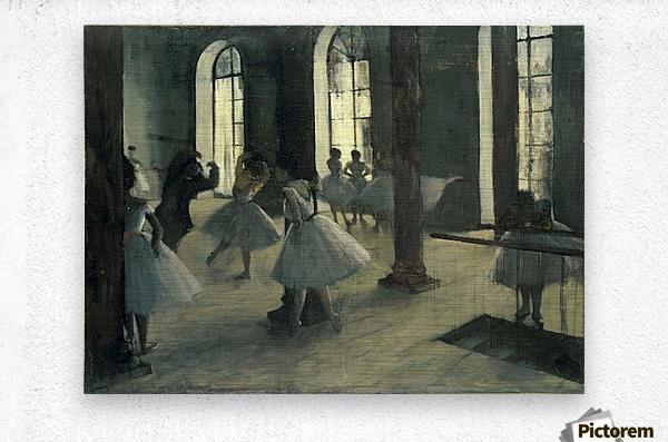 La Repetition au foyer de la danse by Degas  Metal print