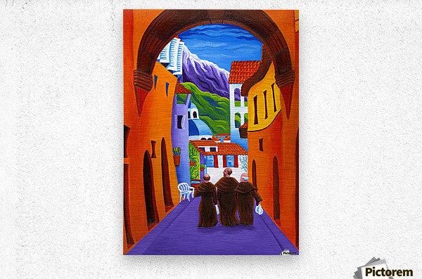 Afternoon In Assisi  Metal print