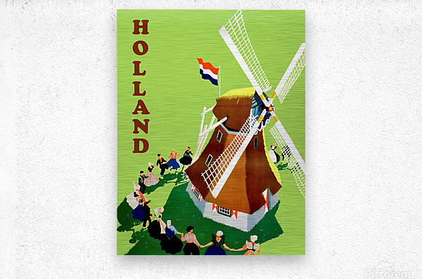 Holland Windmill  Metal print
