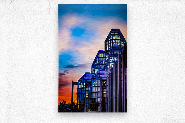 Sunset at the National Gallery of Canada  Metal print