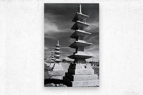 Vanishing Towers of Wutai Shan  Metal print