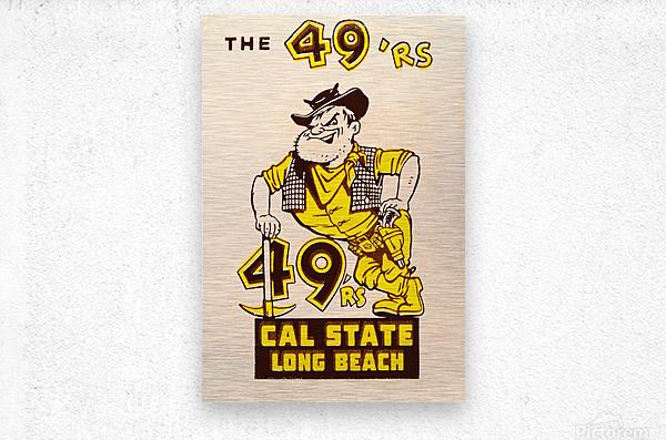 1965 cal state long beach 49ers art   Metal print