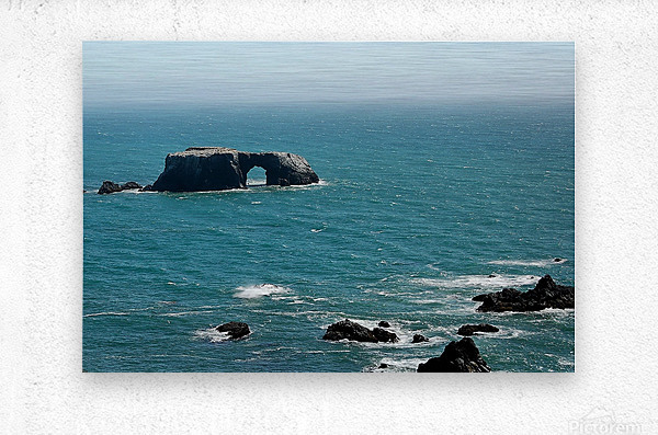 Pacific Coast Highway Clifornia CA 14  Metal print