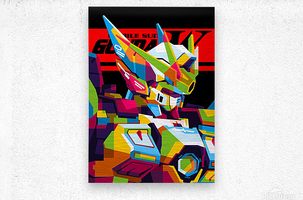 Wings Gundam Zero Pop Art  Metal print